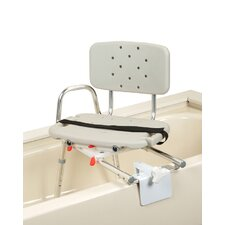 Tub Mount Transfer Bench with Molded Swivel Seat and Back
