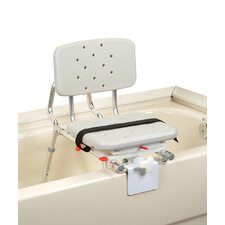 Tub Mount X-Short Transfer Bench with Molded Swivel Seat and Back