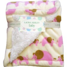 <strong>Laura Ashley Baby</strong> Elephant Crib Throw