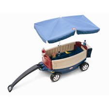 Deluxe Ride and Relax Wagon Ride-On with Umbrella and Cooler