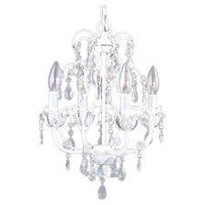 <strong>Livex Lighting</strong> Athena 4 Light Chandelier