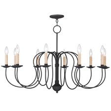 Heritage 10 Light Candle Chandelier