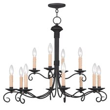 Heritage 12 Light Candle Chandelier