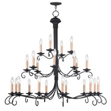 Heritage 24 Light Candle Chandelier