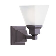 <strong>Livex Lighting</strong> Mission 1 Light Wall Sconce