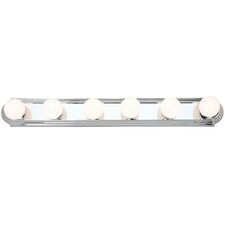 Bath Basics 6 Light Bath Bar