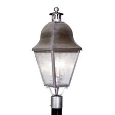 "<strong>Livex Lighting</strong> Amwell 3 Light 10.5"" Outdoor Post Lantern"