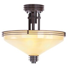 "<strong>Livex Lighting</strong> Matrix 3 Light 15.5"" Semi Flush Mount"