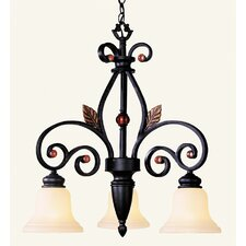<strong>Livex Lighting</strong> Tuscany 3 Light Chandelier