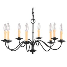 <strong>Livex Lighting</strong> Heritage 8 Light Chandelier