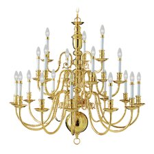 Beacon Hill 21 Light Chandelier in Polished Brass