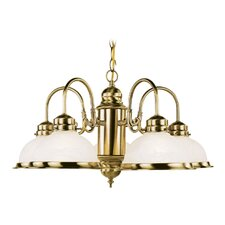 <strong>Livex Lighting</strong> Chandelier in Antique Brass
