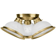 "<strong>Livex Lighting</strong> 7.25"" 3 Light Flush Mount"