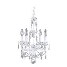 <strong>Livex Lighting</strong> Athena Four Light Mini Chandelier in Antique White