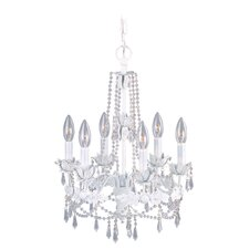 <strong>Livex Lighting</strong> Athena Six Light Chandelier in Antique White