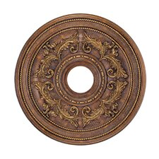 Ceiling Medallion in Crackled Greek Bronze