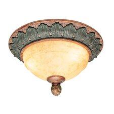 Salerno 2 Light Flush Mount