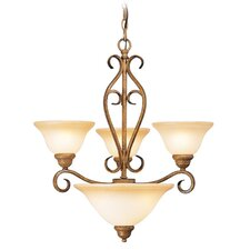 <strong>Livex Lighting</strong> Bristo 3 Light Chandelier