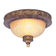 <strong>Livex Lighting</strong> Seville 2 Light Flush Mount