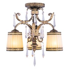 La Bella 3 Light Semi Flush Mount