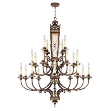 <strong>Livex Lighting</strong> Bristol Manor Twenty  Chandelier in Palacial Bronze with Gilded Accents