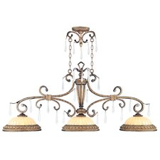 La Bella 3 Light Kitchen Island Pendant