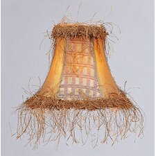 "6"" Silk Panel Bell Clip Chandelier Shade"