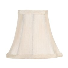 <strong>Livex Lighting</strong> French Oval Silk Clip Chandelier Shade in Champagne