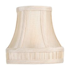 <strong>Livex Lighting</strong> Silk Bell Clip with Bottom Pleat Chandelier Shade in Champagne