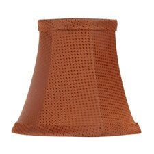 <strong>Livex Lighting</strong> Patterned Bell Clip Silk Chandelier Shade in Black/Copper