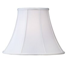 Shantung Silk Bell Lamp Shade in White