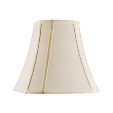 <strong>Livex Lighting</strong> Shantung Silk Square Cut Corner Bell Lamp Shade in Off White