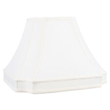 <strong>Livex Lighting</strong> Round Cut Corner Shantung Silk Lamp Shade in White