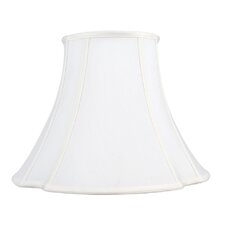French Oval Shantung Silk Bell Lamp Shade in White