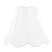 Top and Bottom Scallop Shantung Silk Bell Lamp Shade