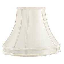 Fancy Oval Shantung Silk Lamp Shade in Beige