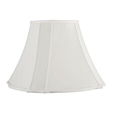<strong>Livex Lighting</strong> Fancy Square Shantung Silk Bell Lamp Shade in Cream