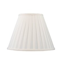 Shantung Silk Pleat Empire Lamp Shade in White
