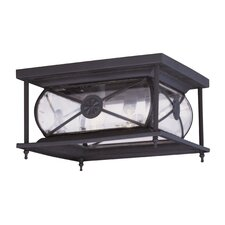 Providence 2 Light Outdoor Flush Mount
