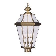 <strong>Livex Lighting</strong> Georgetown 3 Light Outdoor Post Lantern