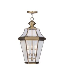 Georgetown 3 Light Outdoor Hanging Lantern