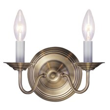<strong>Livex Lighting</strong> Williamsburg 2 Light Wall Sconce