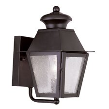 <strong>Livex Lighting</strong> Mansfield 1 Light Outdoor Wall Lighting