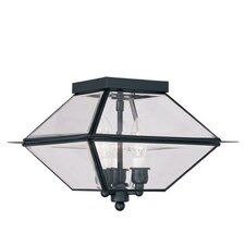 Westover 3 Light Outdoor Flush Mount