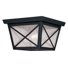 <strong>Livex Lighting</strong> Montgomery 2 Light Outdoor Flush Mount