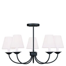 Mendham 5 Light Convertible Chandelier