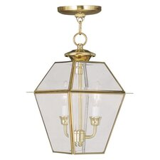 <strong>Livex Lighting</strong> Westover 2 Light Outdoor Hanging Lantern