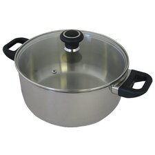 Classic Stainless Steel 24cm Casserole with Lid
