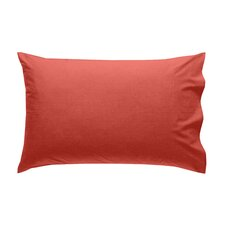 Kensington Plain Dye Pillowcases in Brick Red