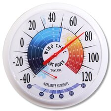 Wind Chill/Heat Index Thermometer and Hygrometer (Set of 4)